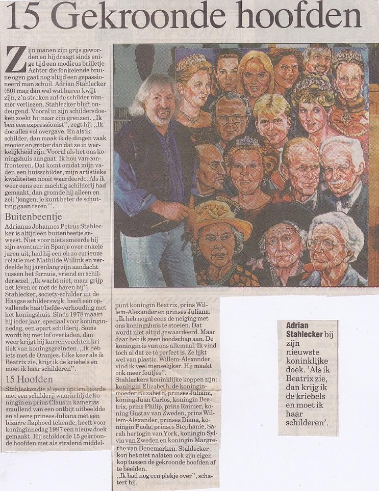 15 Gekroonde hoofden, 26 april 1997