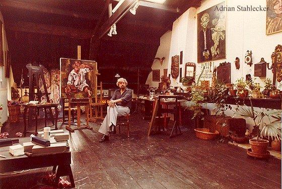 In his studio 1975