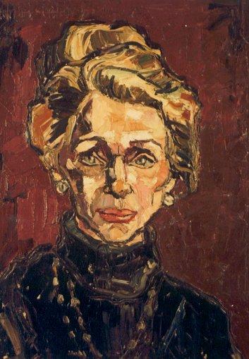 Actress Charlotte Köhler - oil 1966