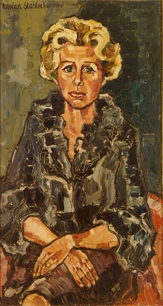 Actress Mary Dresselhuys - oil 1966