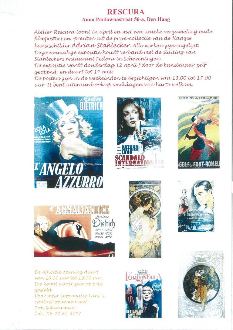 Expositie Filmposters, Anna Paulownastraat, Den Haag