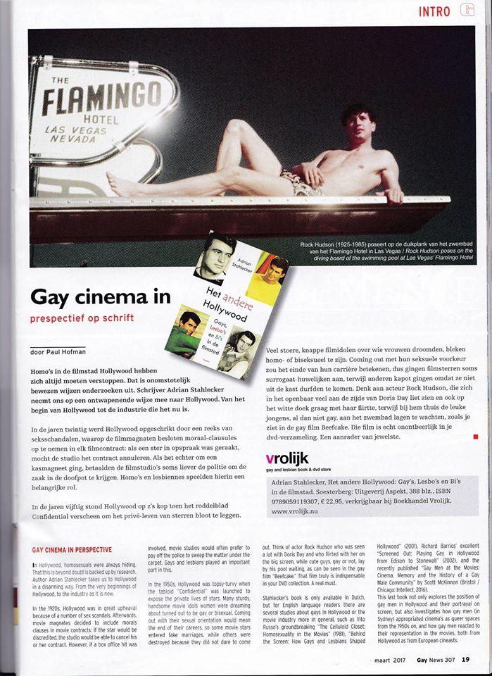 Boekbespreking het Andere Hollywood, Gay News, Maart 2017