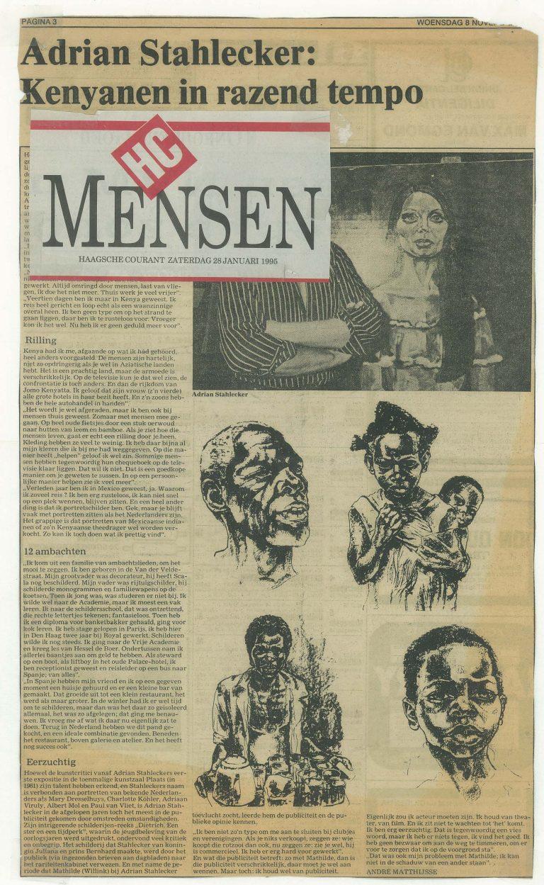 Haagsche Courant, 28 januari 1995