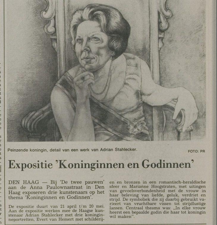 Krantenartikel Koninginnen en Godinnen