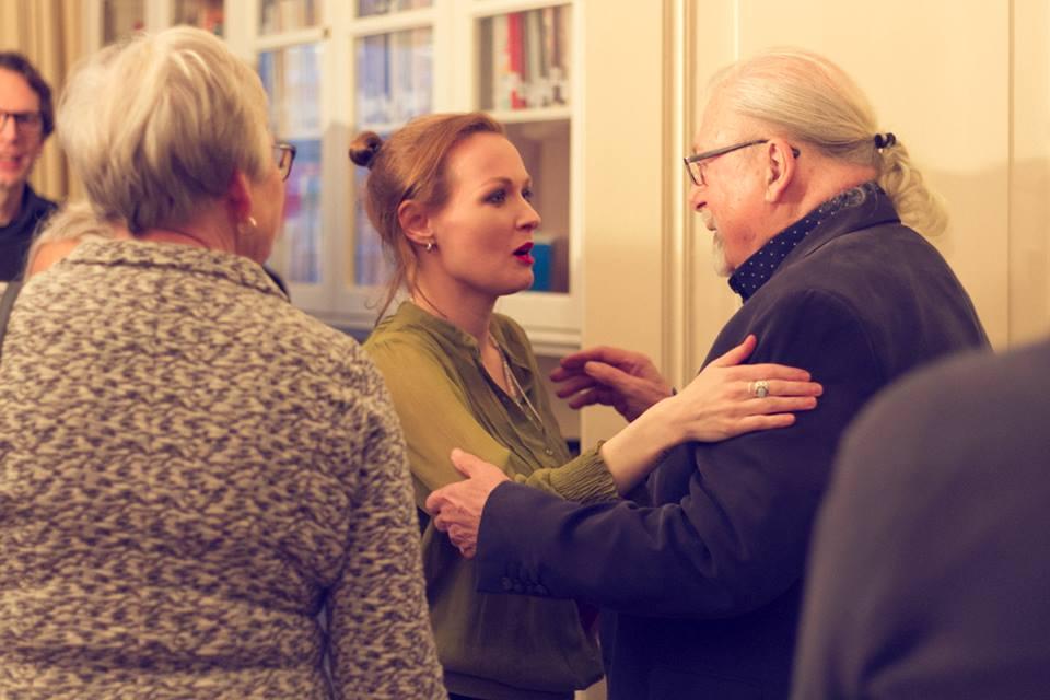 Adrian met auteur Lisette de Zoete