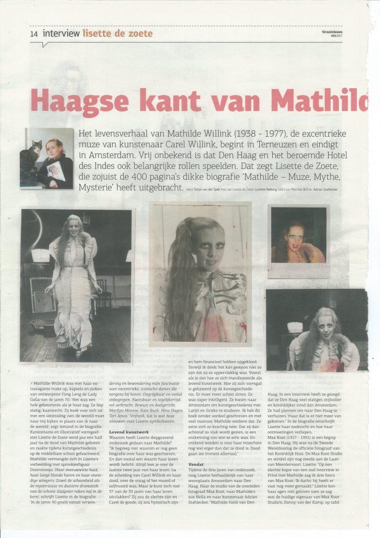 Lisette de Zoete boek Mathilde