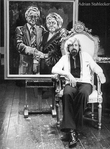 Singers Johnny Jordaan & Tante Leen - oil 1978 'Noblesse Oblige'