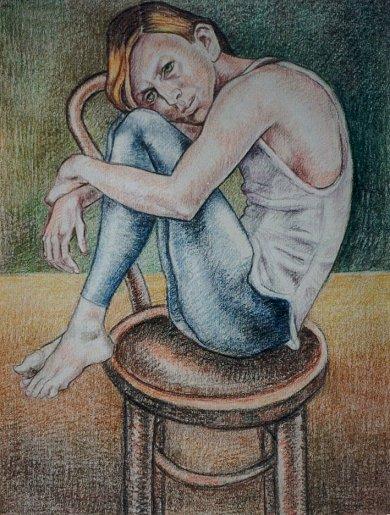 The Dancer - oilpastel 1998