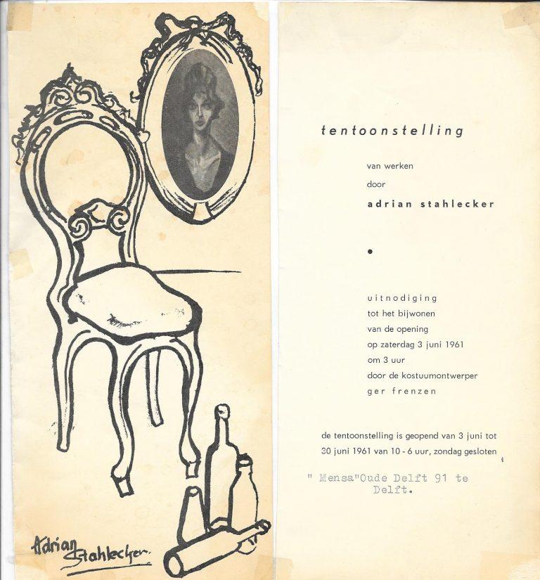 Uitnodiging Delft, juni 1961