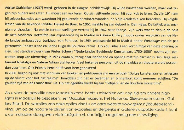 Uitnodiging Expositie Maassluis, 2014