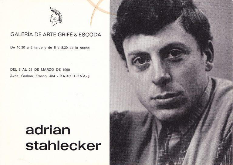 Uitnodiging Galerie del Arte, 1969