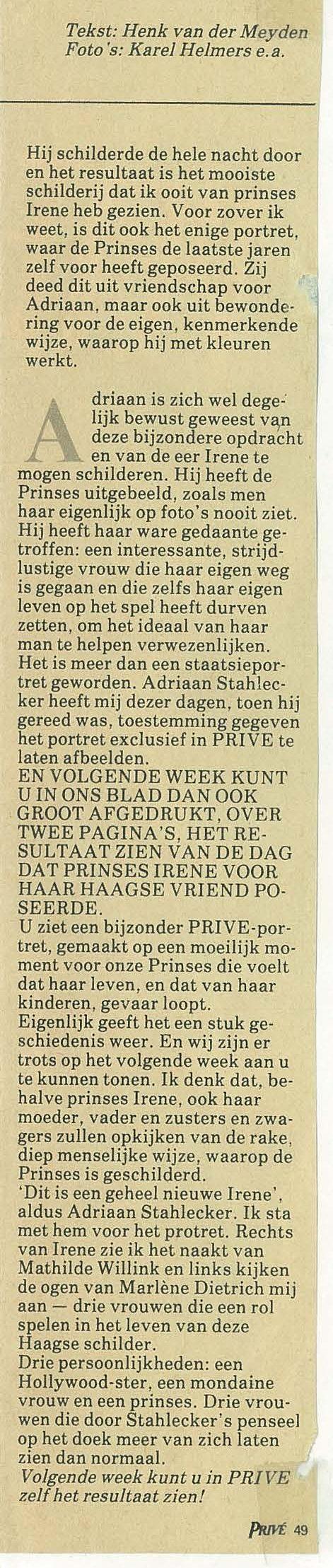 v.d. Meyden, Irene