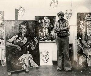 In his studio 1977